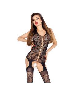 Passion Erotic Line Bodystocking Catsuit BS012 Zwart