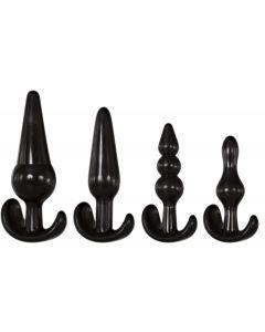 Adam & Eve 4 Piece Anal Plug Kit Zwart