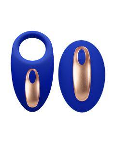 Elegance Poise Vibrerende Cockring + Stimulator Blauw