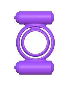 C-Ringz Silicone Double Delight Cockring Paars