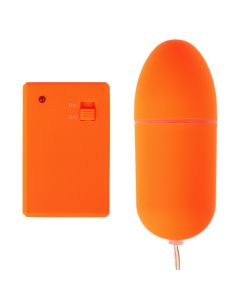 Neon Luv Touch Vibrerend eitje Remote Controle Bullet Orange