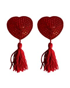 Ouch! Nipple Tassels Heart Rood