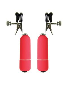 Ouch! Vibrating Nipple Clamps Tepelklemmen Rood