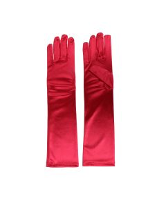 Satin Gloves Rood