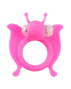 Butterfly Ring Cockring Roze