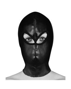 Ouch! Extreme Leather Hood Masker Zwart