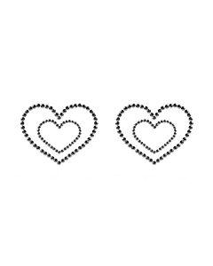 Bijoux Indescrets Skin Jewelry Mimi Hearts Zwart