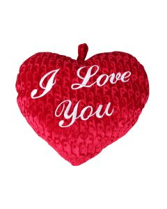 I Love You Hartvormig kussen Rood