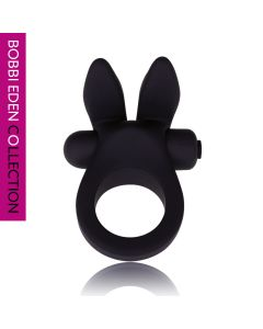 Bobbi Eden Rocking Rabbit Cockring zwart